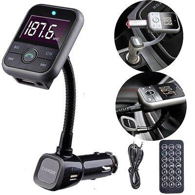 Bluetooth Auto FM Transmitter Freisprechanlage MP3 Player USB Ladegerät SD TF