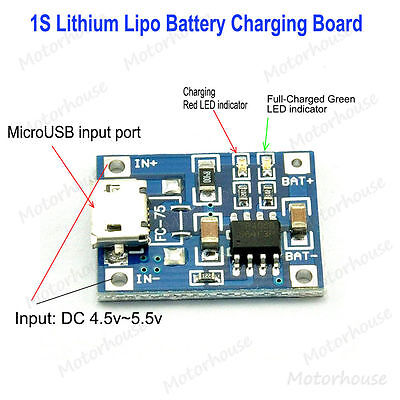 5v Micro Usb 1a Lithium Battery Charging Board Lipo Charger Module For Arduino