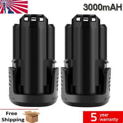 2X 3.0Ah Battery For Dremel B812-03 B812-02 12V Li-Ion 8200 8220 Cordless Tools