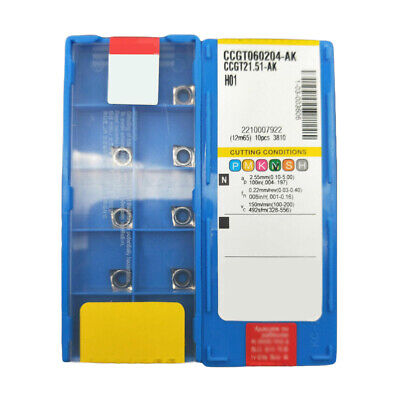 CCGT060204-AK H01 CCGT21.51 Carbide Inserts Schneider Klinge CCMT0602 Für Alu