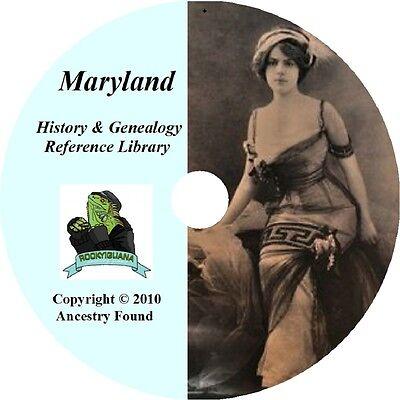 MARYLAND - History & Genealogy - 51 old Books on DVD - Ancestors, County, CD, MD