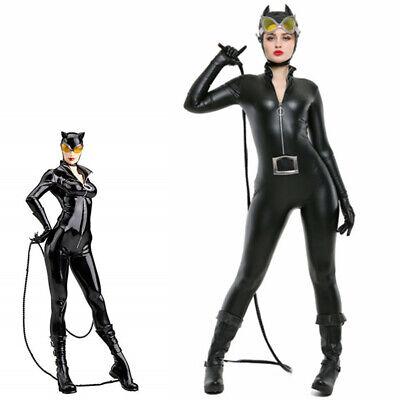 Catwoman Costume Superhero Jumpsuit Adult Halloween Fancy Dress - New Catwoman Costume