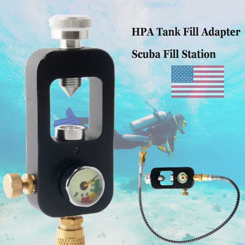 Paintball Filling Station Airsoft Air Tank Adapter Scuba 4500Psi Fittings Diving