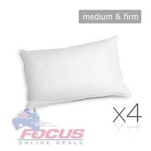 Set of 4 Pillows Polyester Fibre Filling - 2 Soft & 2 Medium Melbourne CBD Melbourne City Preview