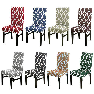 1/4/6Pc Wedding Banquet Chair Covers Spandex Stretch Seat Slipcovers Dining - Wedding Seating