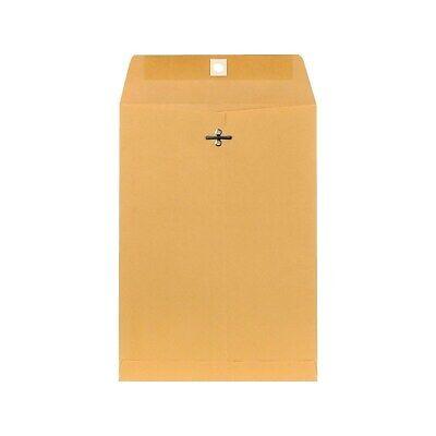 "Staples Brown Kraft Clasp 7 1/2"" x 10 1/2"" Envelopes 100/Box (233577/19268)"