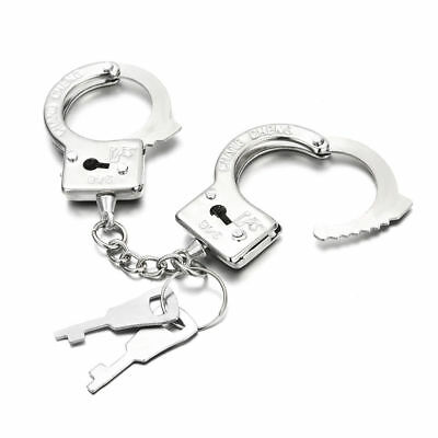 Mini esposas con llaves, tamaño llavero metalizado Key chain NUEVO