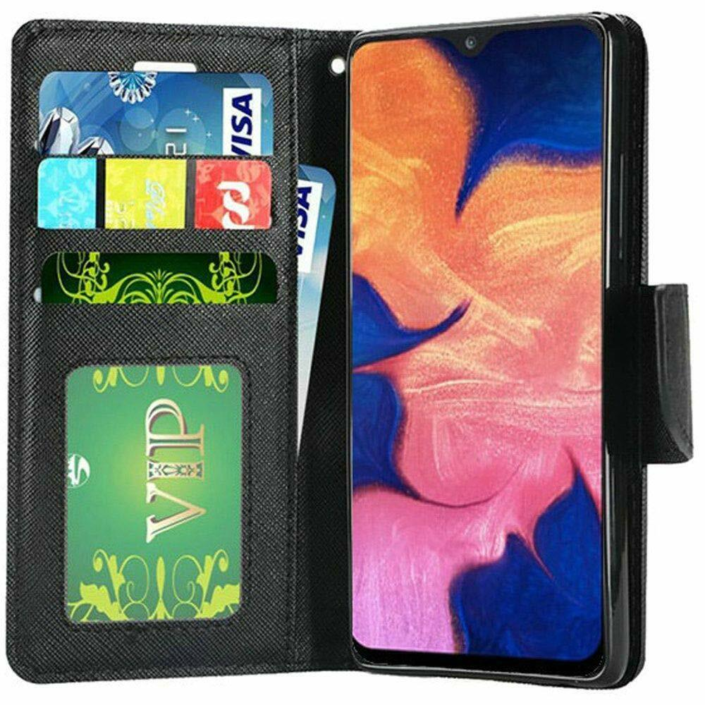 For Samsung Galaxy A20 Leather Shockproof Magnetic Flip Wallet Case Cover+Screen Cases, Covers & Skins
