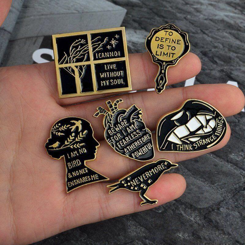 1Set Enamel Brooch Pins Shirt Collar Lapel Pin Necktie Clip
