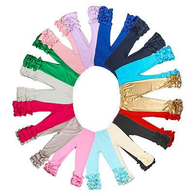 Baby Infant Girls Pants Toddler Kids Long Icing Ruffle Cotton Trousers Leggings](Girls Ruffle Leggings)