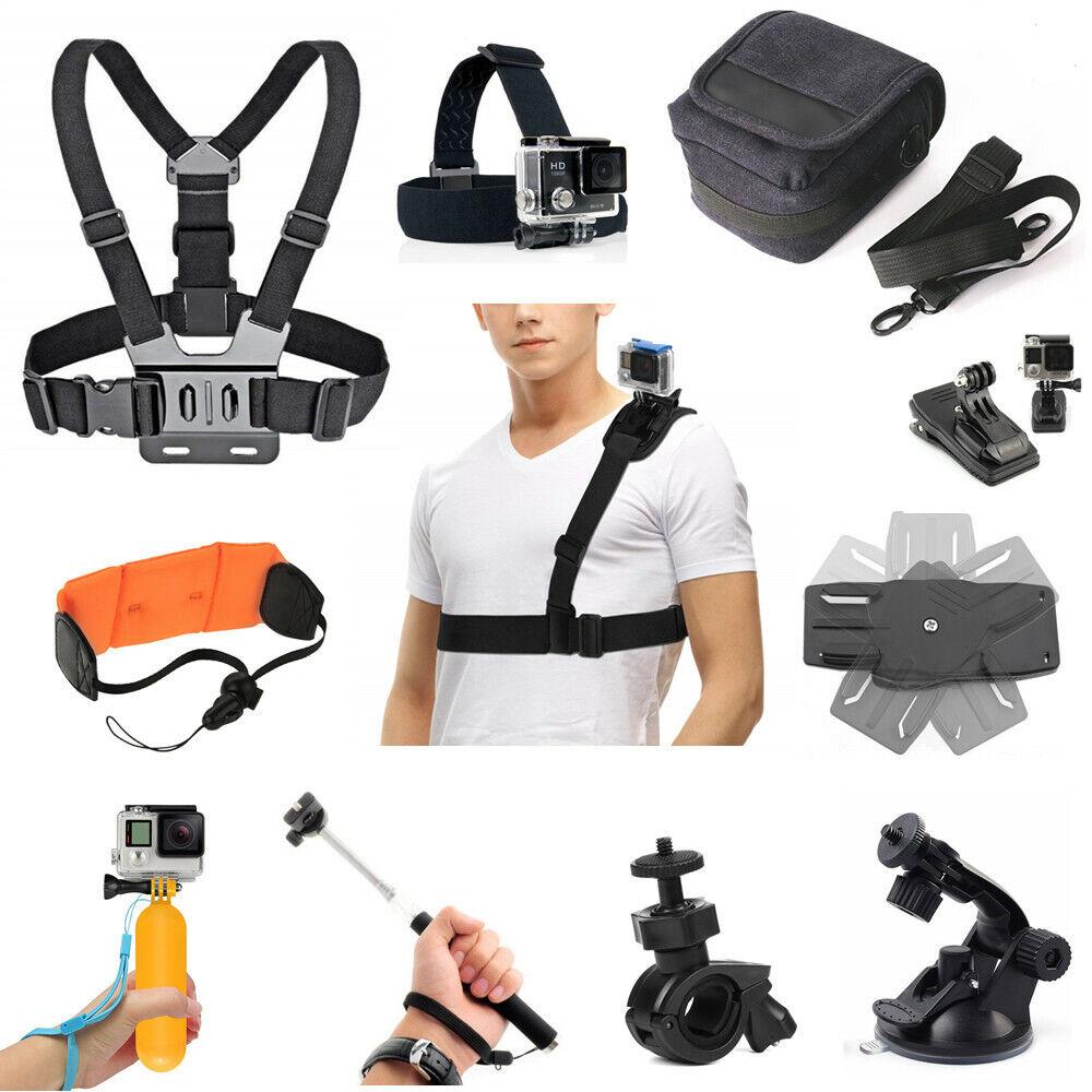 Bundle Zubehör kit Tasche Kopf Brustgurt Lenker Clip Handheld für Action Kamera