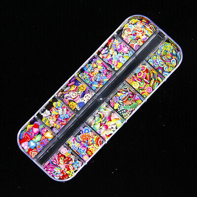 12 Grids Epoxy Resin Jewelry Making Filling Beads Material D