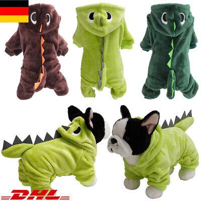 ★Haustier Dinosaurier Jacke Halloween Kostüm Hunde Kleidung Welpen Mantel XS-L