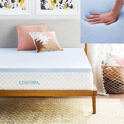 The Best Orthopedic Memory Foam Gel Queen Size Mattress Pad Comfort Bed