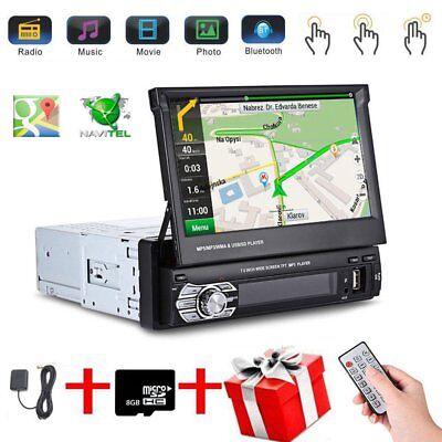 """1 Din 7"""" Car Mp5 Spieler AUTORADIO MIT GPS NAVIGATION NAVI BLUETOOTH+KAMERA DHL"""