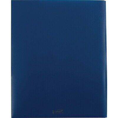Staples 4 Pocket Portfolio Folder With Fasteners Navy 920311