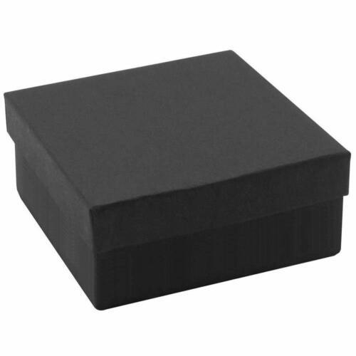 100 Matte Black Cotton Insert Gift Cardboard Paper Boxes Bracelet Watch Jewelry