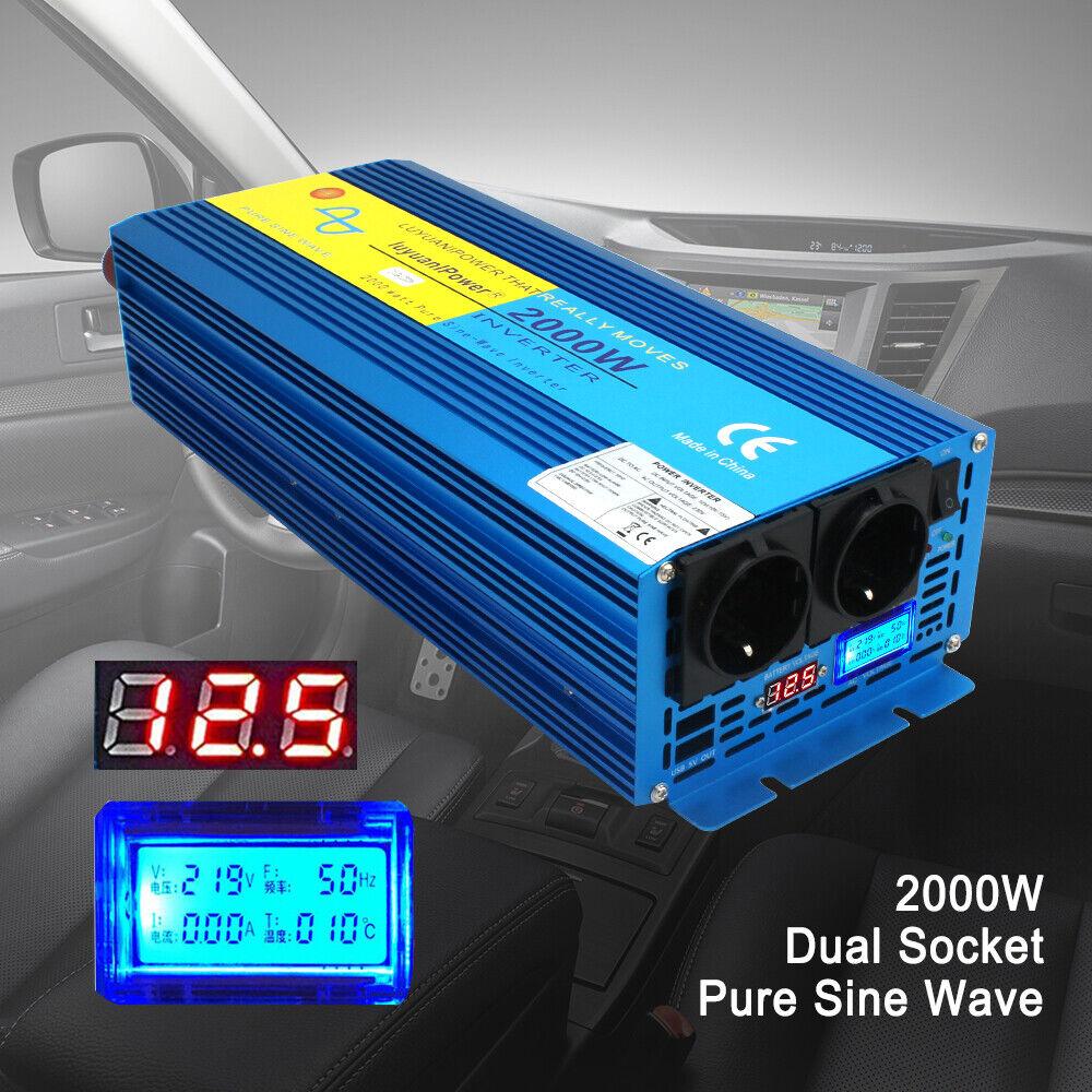 2000W/4000W Reiner Sinus Spannungswandler 12V auf 230V Inverter Wechselrichter