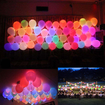 - 50 Pack LED Balloons Light Up Lamp Balloons Party Decoration Wedding Birthday