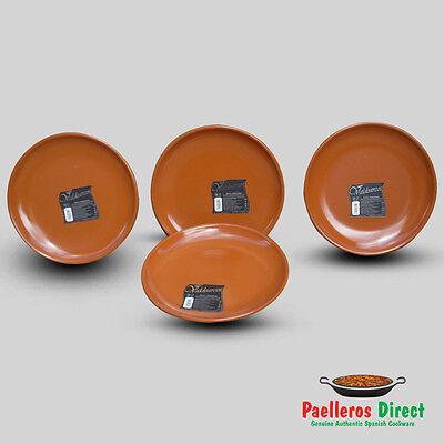 Set of 4 Authentic Spanish Terracotta Plates - 29cm Diameter