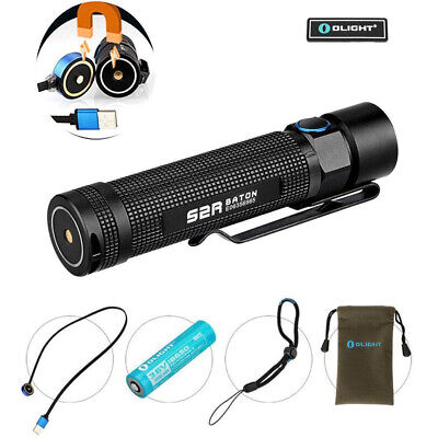 OLIGHT S2R 1020 Lumens USB Magnetic Rechargeable Side Switch EDC LED Flashlight