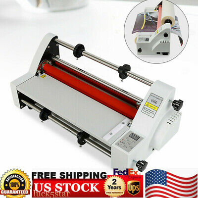 13 V350 Laminator Four Rollers Hot Cold Roll Laminating Machine Electronic Us