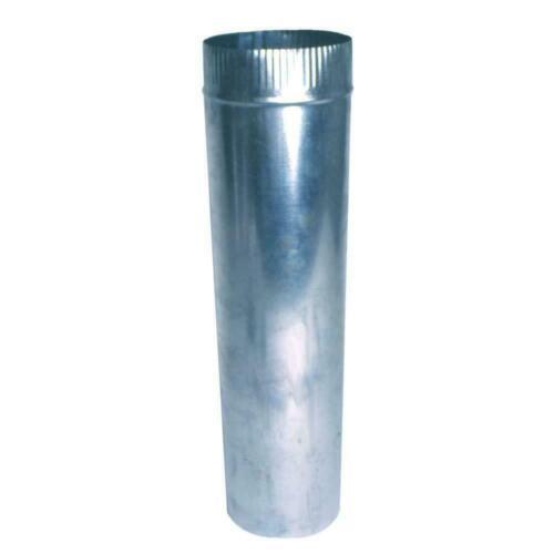 2 pak Round Metal Duct Pipe 3 inch x 2 ft. 26 Gauge Steel HVAC