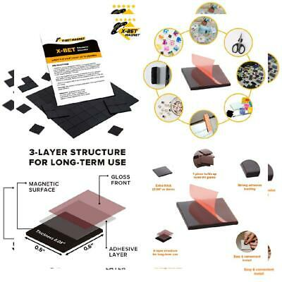 Magnetic Squares - 1 Tape Flexible Sheet Of 70 Self Adhesive...