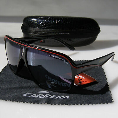 Men Women Carrera Glasses Retro Sunglasses Black Red Matte Frame Outdoor Eyewear