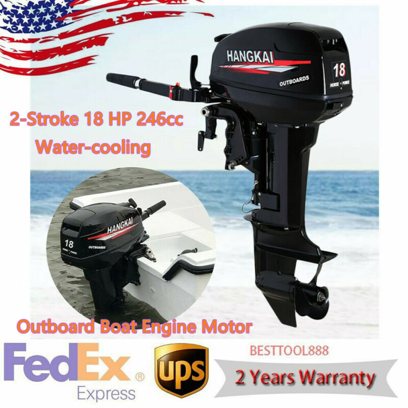 246CC 2-Stroke Outboard Motor Boat Engine Motor Water Cooling 18HP HANGKAI