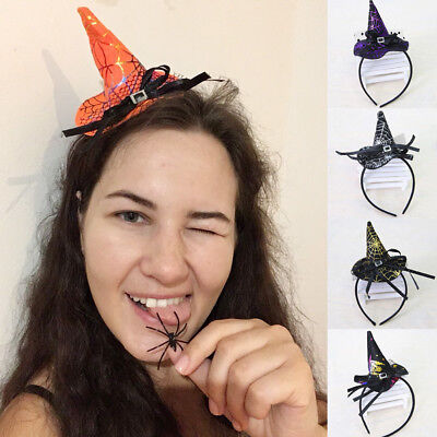 Mini Witch Hat Headband Halloween Fancy Dress Props Kid Cosplay Decoration Gift