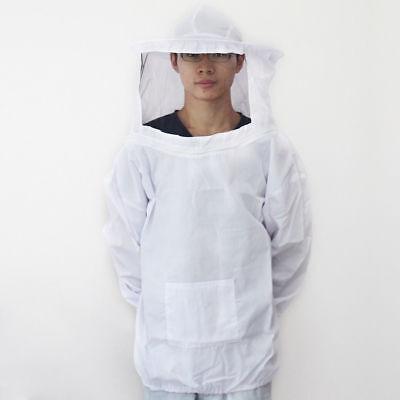 Beekeeping Jacket Veil Suit Hat Pull Over Smock Protective Equipment Hood Set