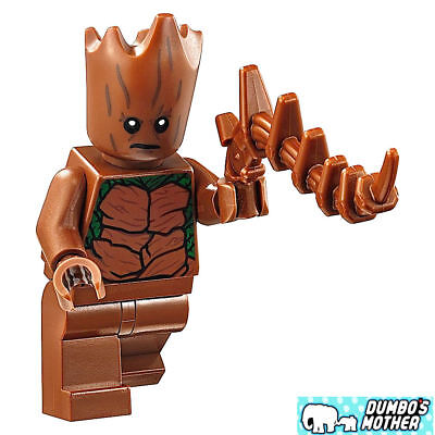 100% LEGO Teen Groot Minifig from 76102 Thor's Weapon Quest Marvel Super Heroes (Teen Superheroes)