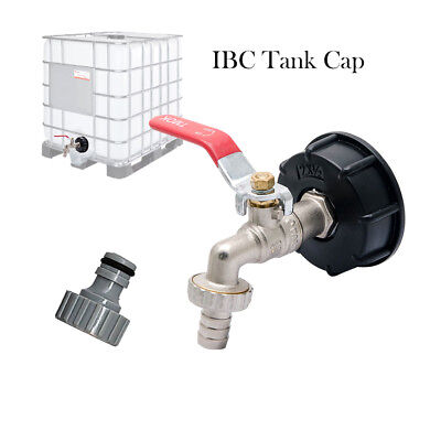 Ibc Tank Cap With Brass Tap 12 Snap On Connector Water Butt Oil Fuel Storage
