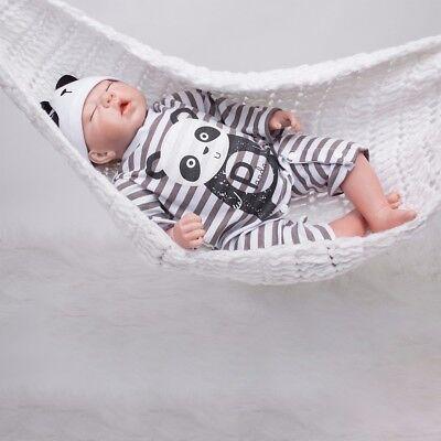 Reborn Dolls Toddler Lifelike Sleeping Newborn Bebe Vinyl Silicone Boy Baby Doll