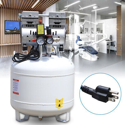 Portable 40l Dental Lab Air Compressor Silent Noiseless Oilless Tire Inflation