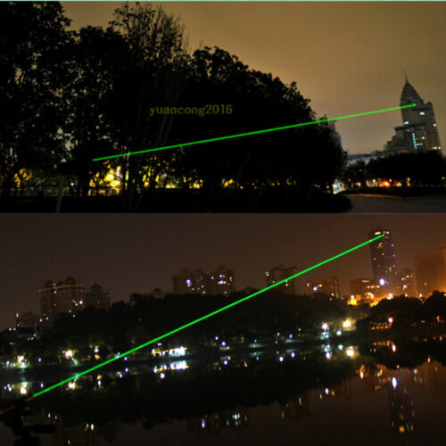 10 Miles Green Laser Pointer 5mw 532nm 851 Light  Visible Beam + 18650 Battery