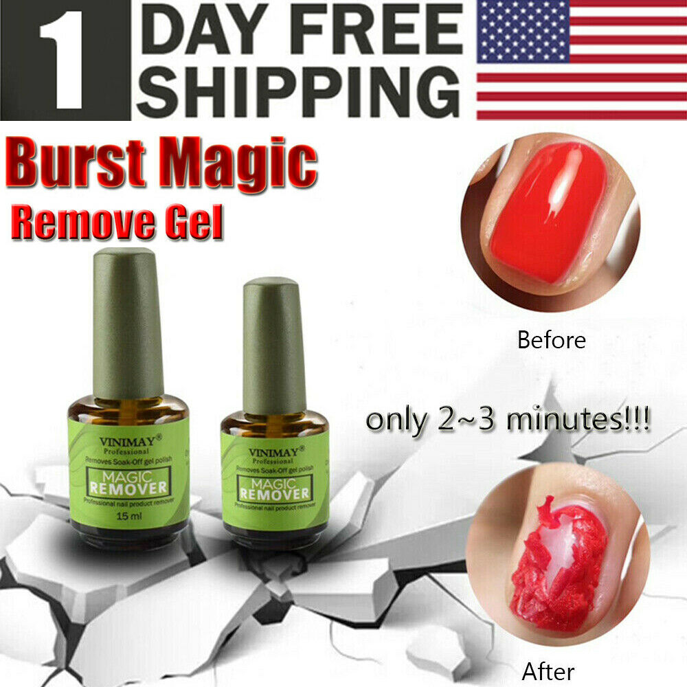 Details About Magic Nail Polish Remover Professional Remove Soak Off Gel Polish In 3 5 Minutes