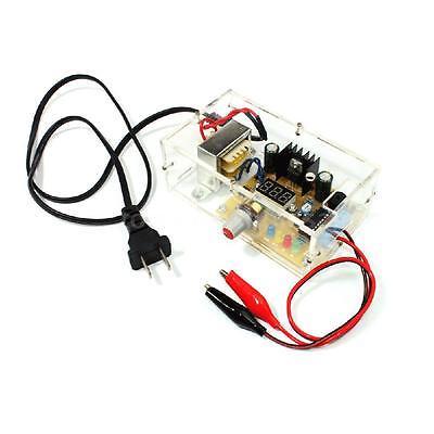 Lm317 1.25v-12v Adjustable Regulated Voltage Power Supply Diy Kit Us Plug 37zd