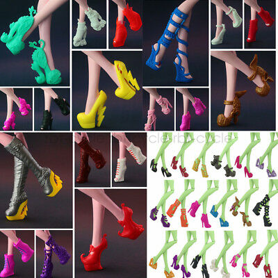 5Pair Different Heels Shoes Boots Clothe Accessories for Monster High Dolls Gift - Monster High Boots