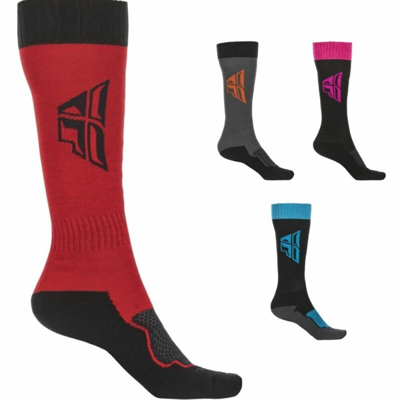 Fly Racing F21 MX Mens Off-Road Dirt Bike Motocross Over The Calf Thick Socks