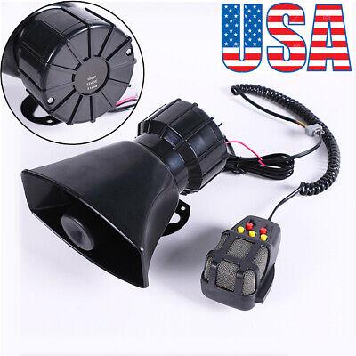 Best Car Warning Alarm Siren Horn Police Fire Loud Speaker PA MIC System Tone