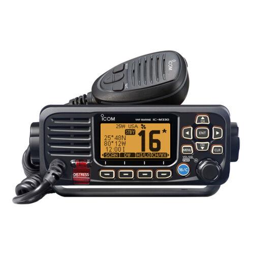 ICOM M330 VHF Marine Boat Radio Radio Fixed Mount - Black M330 11