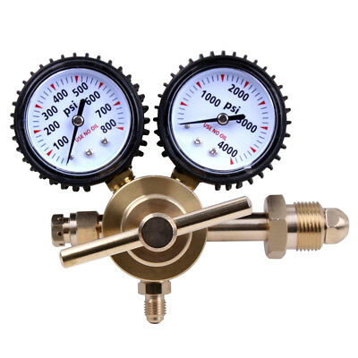 Nitrogen Regulator Gauge Pressure Equipment Brass Inlet Connection Gauges