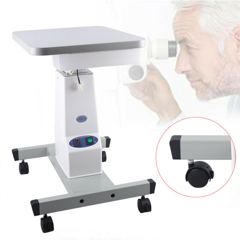 Mobile Optical Lift Work Table Optometry Electric Motorized Instrument 600-820mm
