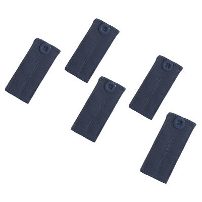 Adjustable Pant Waistband Extension (Button 5-Pack, Blue)