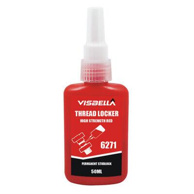 Visbella Thread Locker 6271 10ml High Strength Red Usa Stock