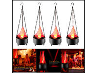 Electric LED Artificial Fake Fire Flame Lamp Torch Light Party Prom Fire Light