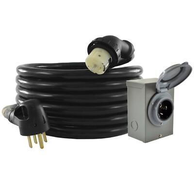 Conntek Gib1450-025 Duo-rain Seal 50amp Power Inlet Box And Temp 25 - Feet