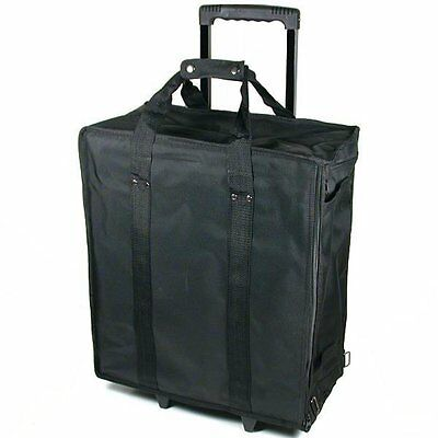 New Large Jewelry Display Box Black Carrying Travel Case W Wheels